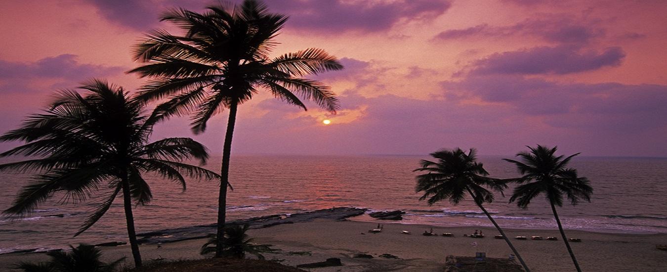 Vagator beach at sunset H1, Goa India